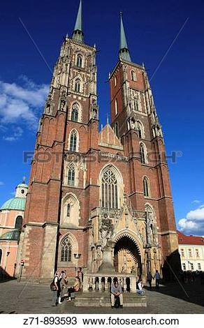 Stock Photo of Poland, Wroclaw, Cathedral of St John the Baptist.