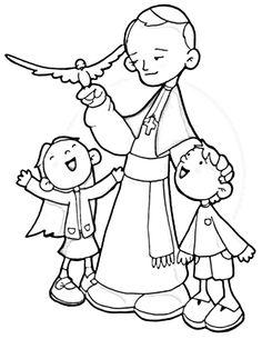 St john bosco clipart clipground for Saint dominic savio coloring page