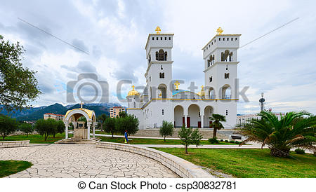 Pictures of The Cathedral of St. John Vladimir, Bar, Montenegro.