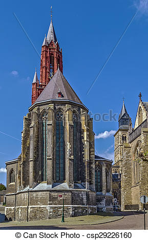 Stock Image of St. John's Cathedral, Maastricht.