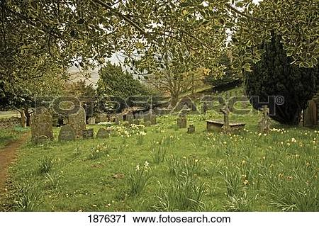 Stock Photography of Keswick, Cumbria, England; A Cemetery In St.