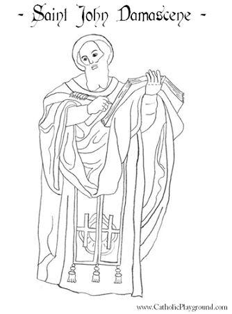 Coloring, St john's and Catholic saints on Pinterest.