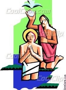 Christ with St. John the Vector Clip art.
