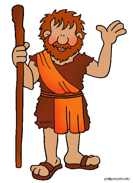 Free Bible Clip Art by Phillip Martin, John the Baptist.