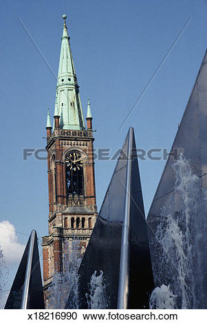 Stock Photography of Tower of St. John's Church, Dusseldorf.