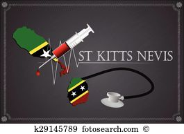 St kitts nevis flag Clipart Royalty Free. 36 st kitts nevis flag.