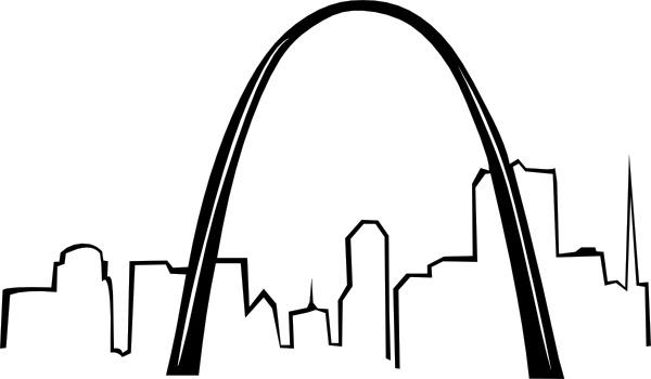 St Louis Gateway Arch clip art Free vector in Open office.