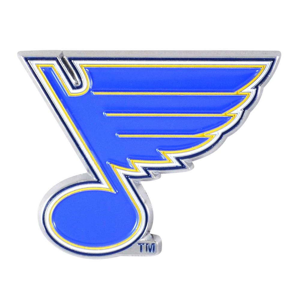 FANMATS 3 in. x 3.2 in. NHL St. Louis Blues Color Emblem.