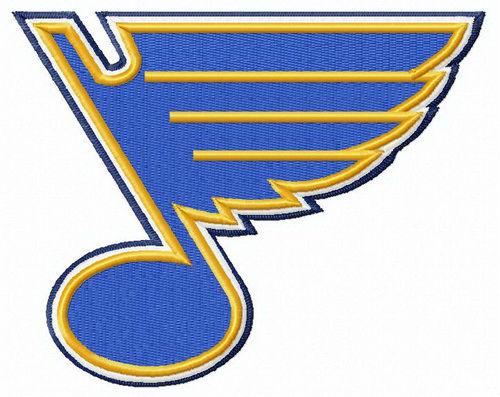 St. Louis Blues logo embroidery design.