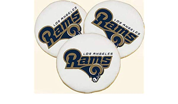 St. Louis Rams Tailgate Party Football Team Logo Cookies.