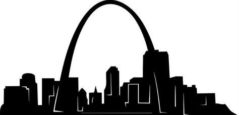 St Louis, MO Skyline Black & White.