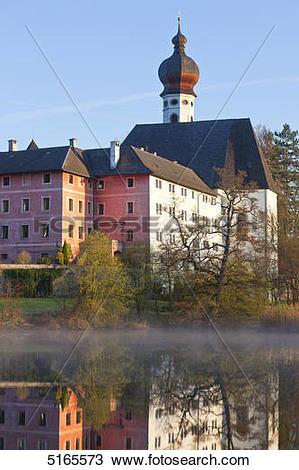 Stock Photo of Hoeglwoerth Abbey near Anger, Bavaria, Germany.