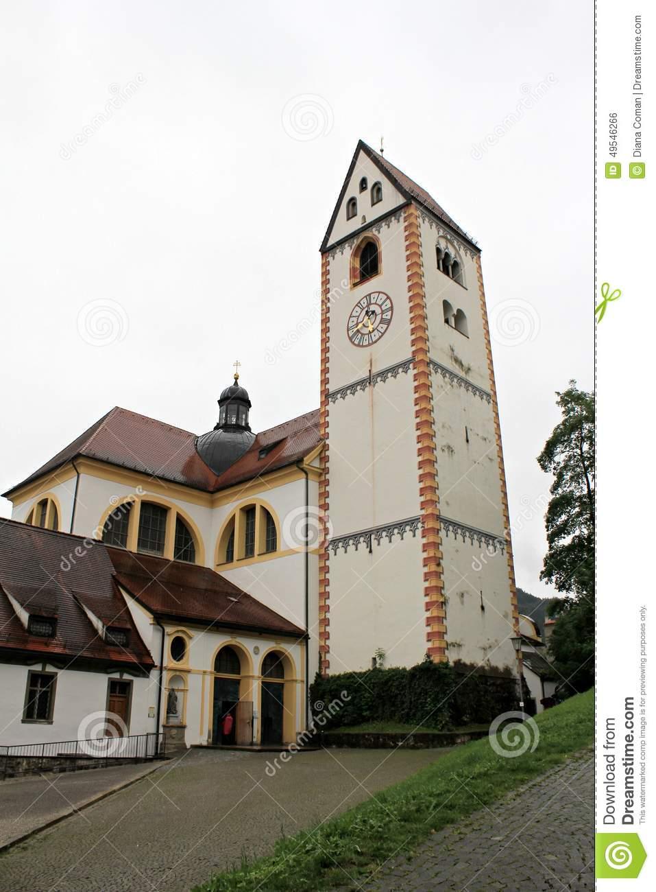 St. Mang Abbey, Fussen Stock Photo.