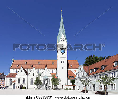 """Stock Photography of """"St. Mang Church on St. Mang Square, Kempten."""