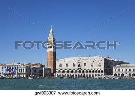 Picture of Italy, Veneto, Venice, St Mark's Square with Doge's.