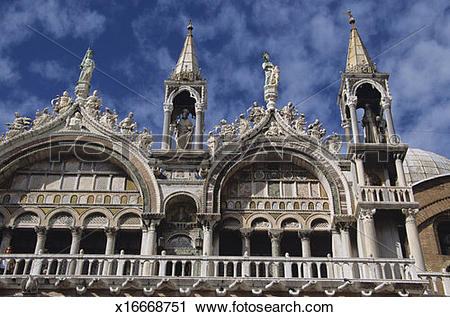 Stock Photography of Basilica San Marco, St. Marks Square, Venice.