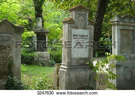 Stock Photography of Tombstones on the Baroque Cemetery of Saint.
