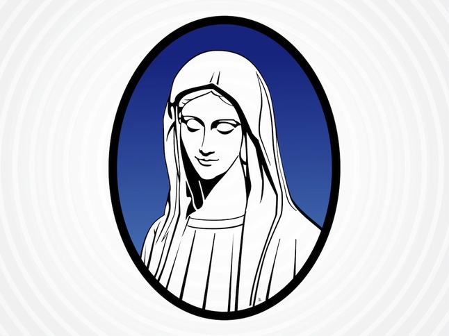 Saint Mary Vector Vector Download.
