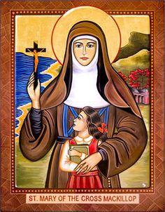 St Mary MacKillop, Australia's first Saint. Born 1842, died 1909.