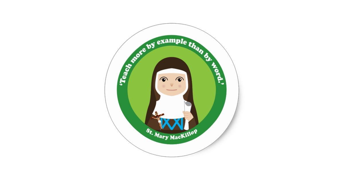 St. Mary MacKillop Classic Round Sticker.