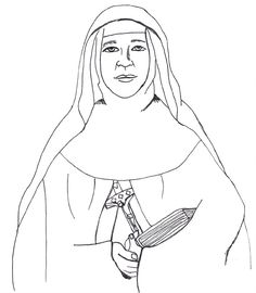 Saint Mary Mackillop Catholic coloring page. (St. Mary of the.