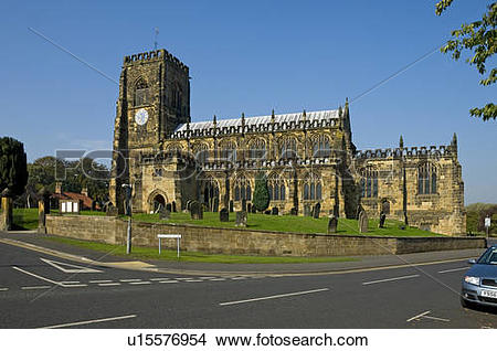 Stock Photo of England, North Yorkshire, Thirsk. The 15th century.
