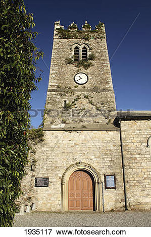 Picture of Clock Tower On St. Mary's Church; Inistioge, County.