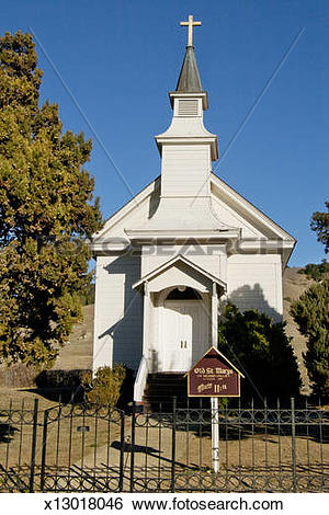 Stock Images of St. Mary's Church: Nicasio, California x13018046.