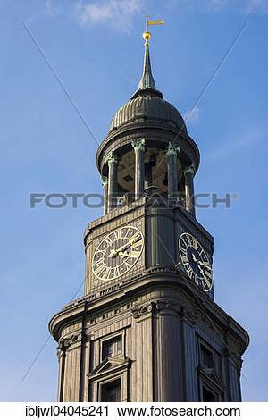 "Stock Photography of ""Tower of Hauptkirche Sankt Michaelis, St."