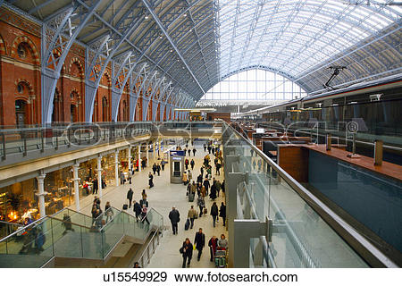 Stock Photograph of England, London, St Pancras Railway Station.