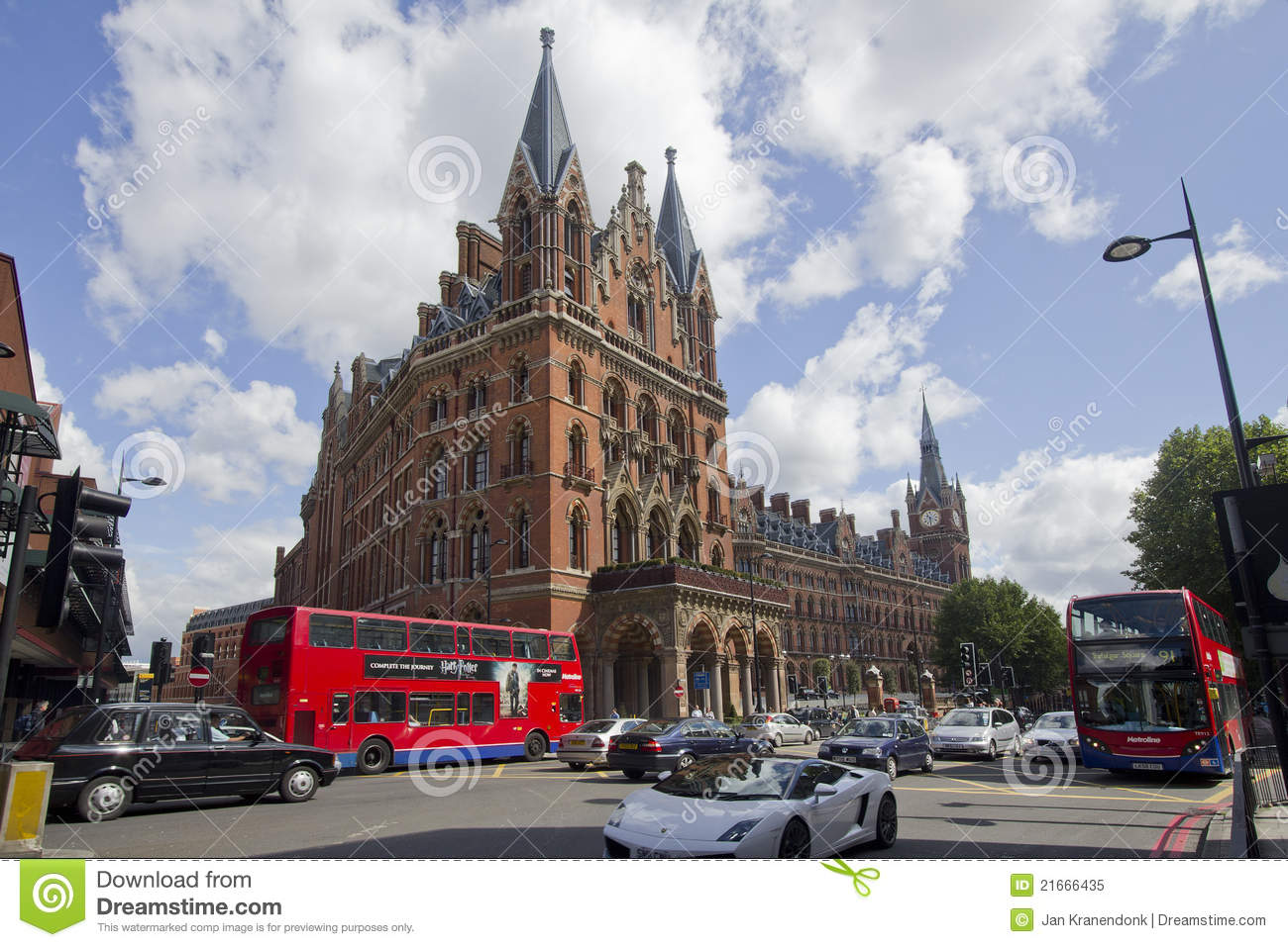 St. Pancras Station London Editorial Image.