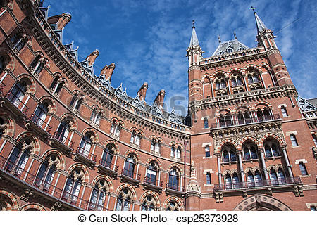 Stock Photo of St Pancras station.