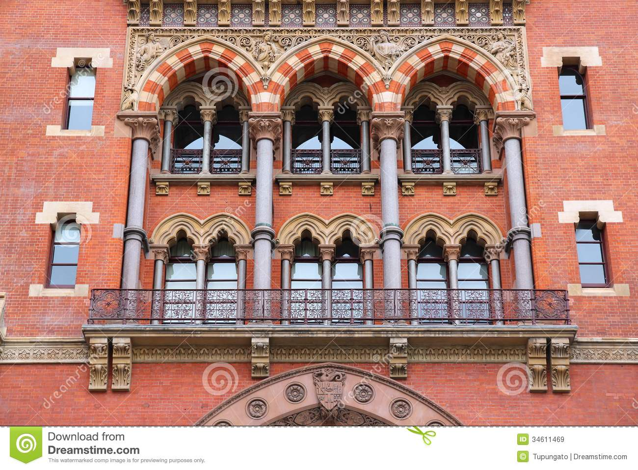 St Pancras Station Royalty Free Stock Images.