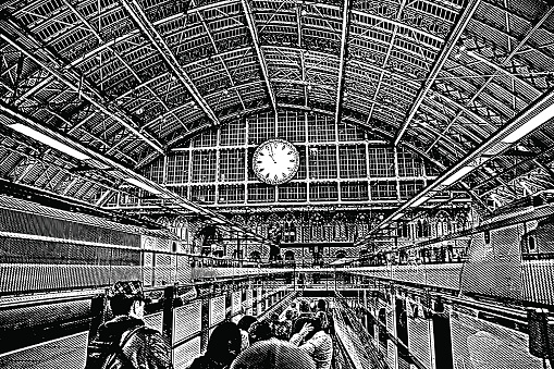 St Pancras Station Clip Art, Vector Images & Illustrations.