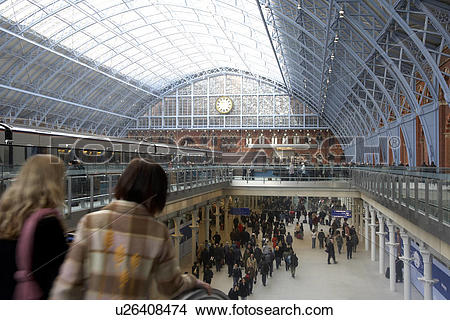 Stock Photo of England, London, St Pancras, Interior of St Pancras.