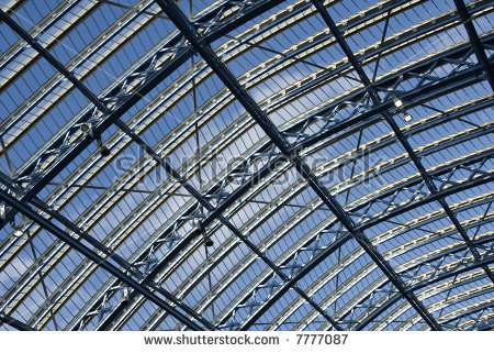 A Detail Of The Glass Roof At The New St Pancras International.