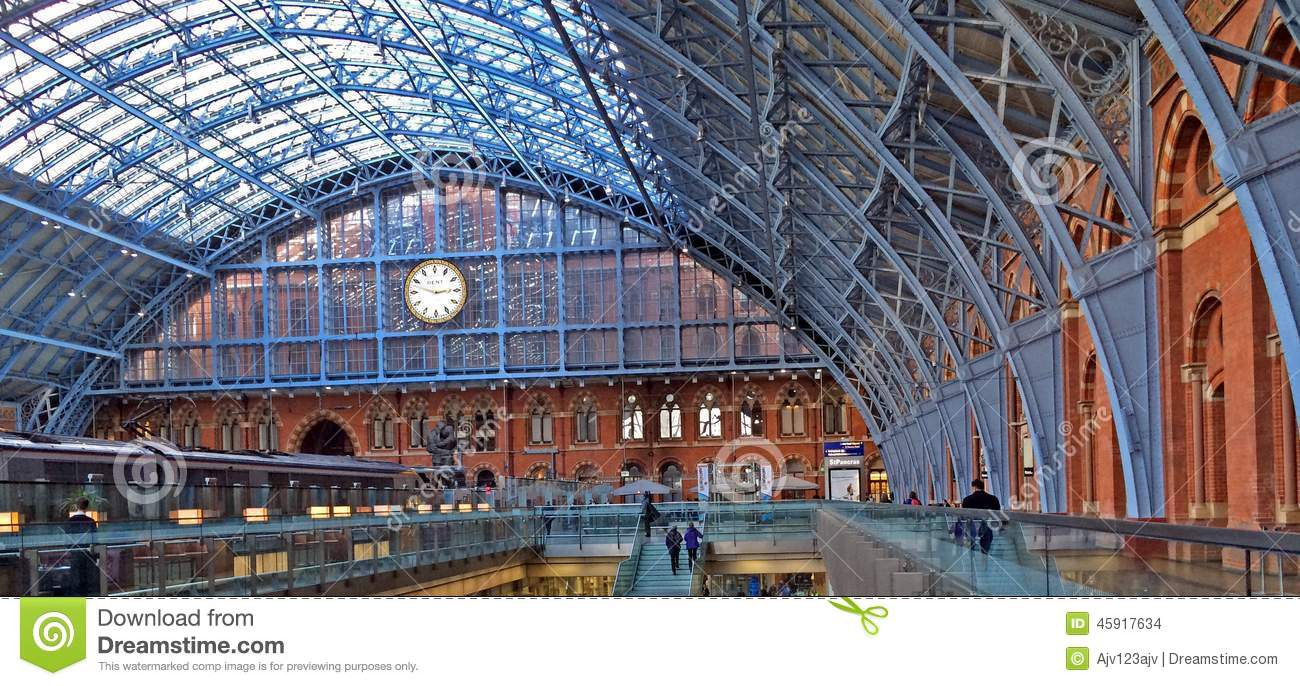 St.Pancras Station Editorial Photography.