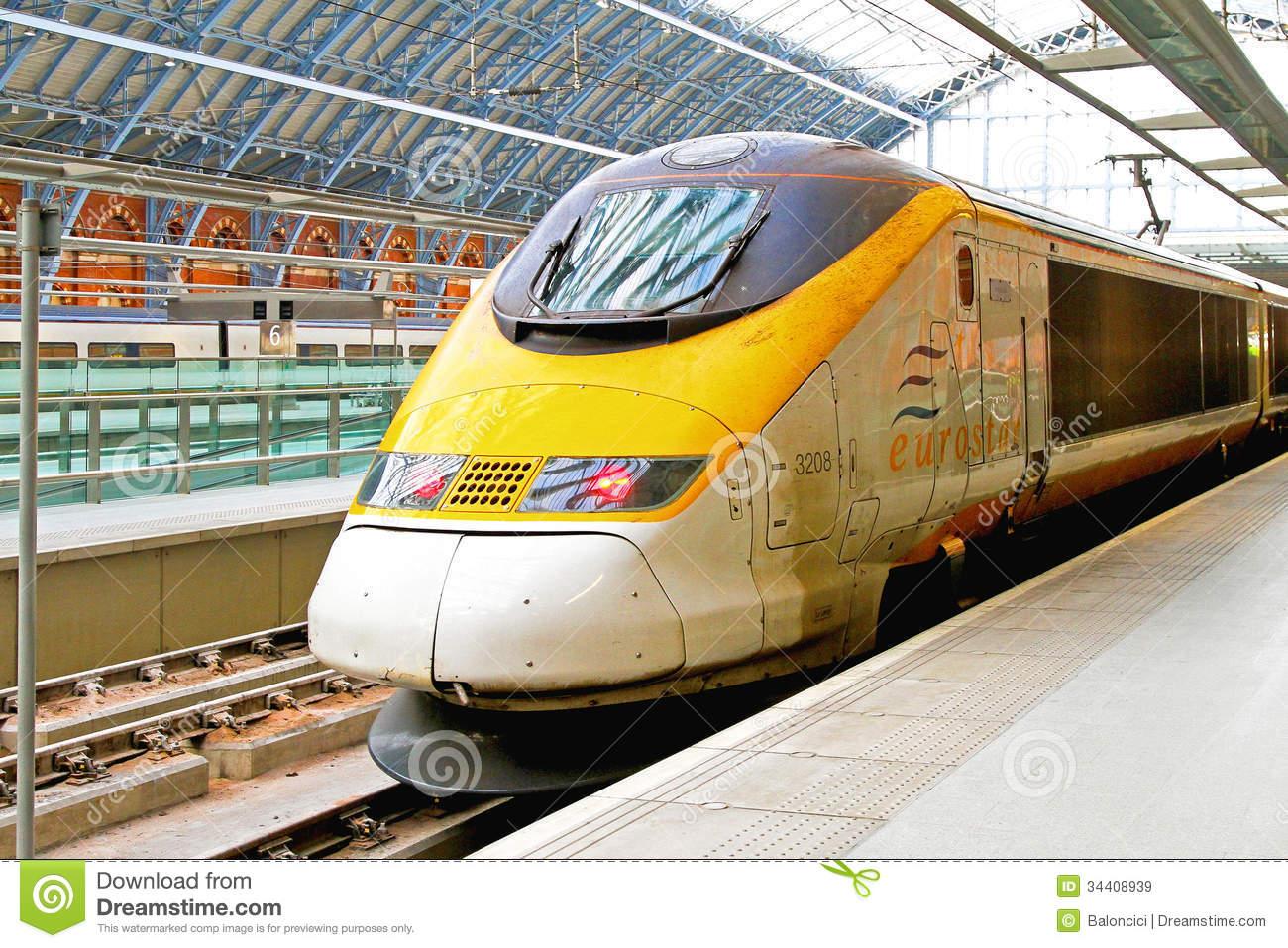Eurostar Train Editorial Stock Image.