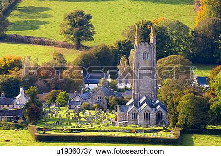 Picture of England, Devon, Widecombe.
