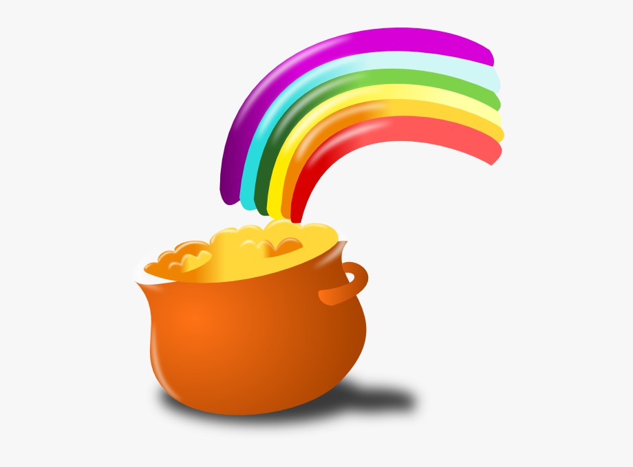 Gold End Rainbow Clip Art.