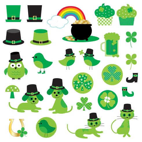 Saint Patrick\'s Day cute clipart.