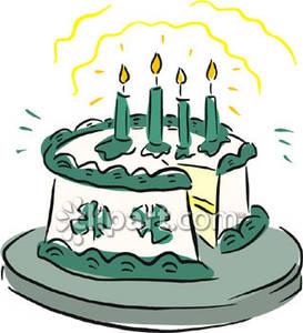 St. Patrick\'s Day Cake.
