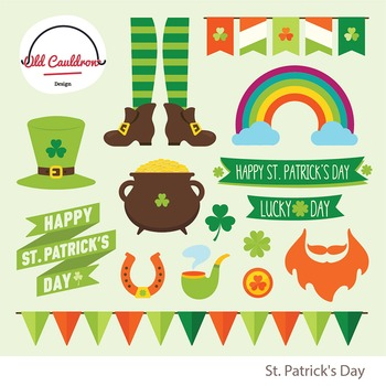 St. Patrick\'s day clipart commercial use CL027.