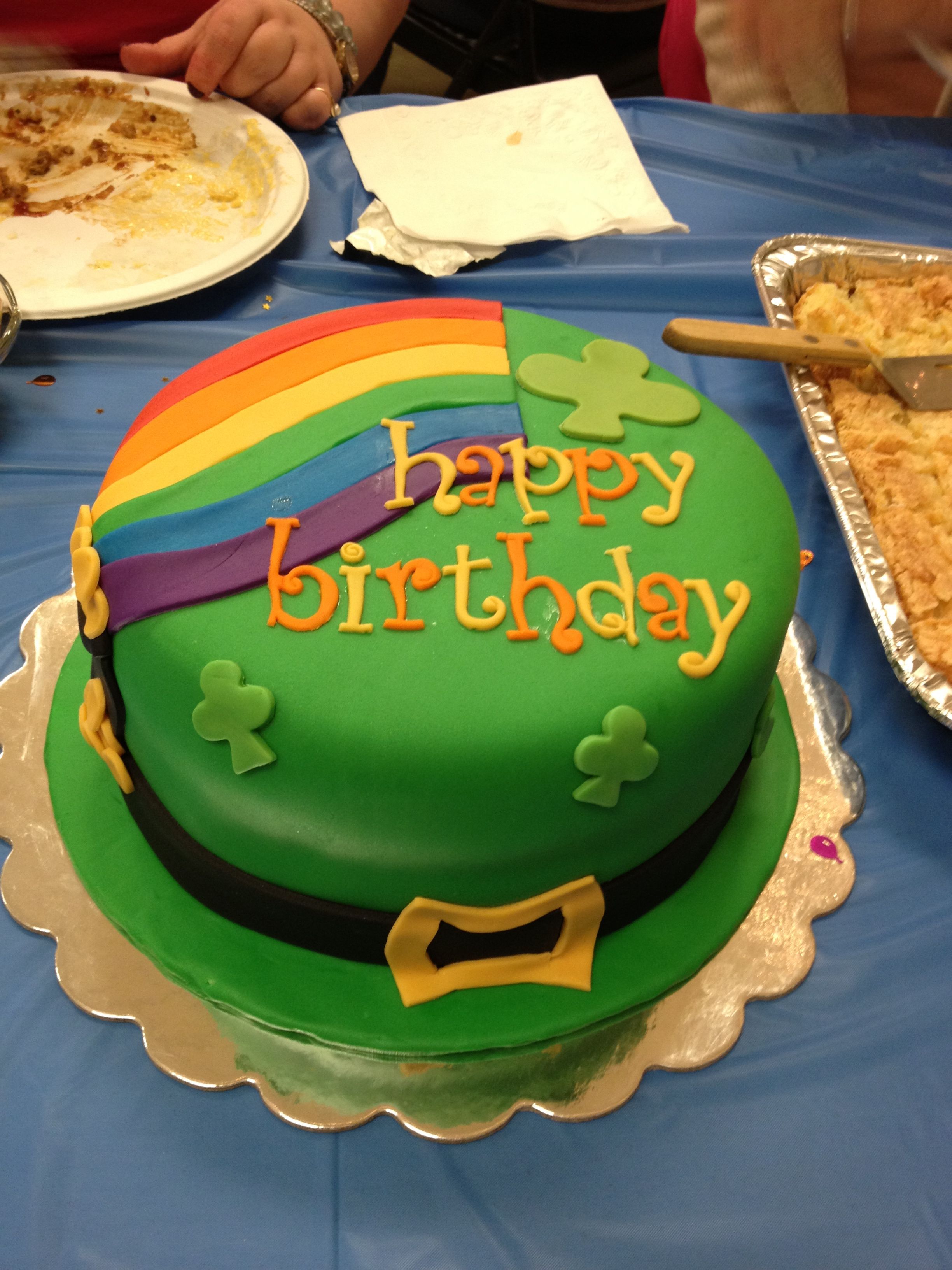 March/st Patrick\'s day birthday cake..