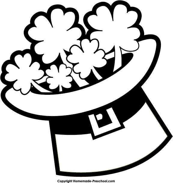 st patrick day clipart black and white - Clipground