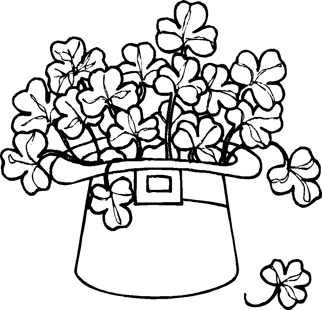 st patrick day clipart black and white Clipground