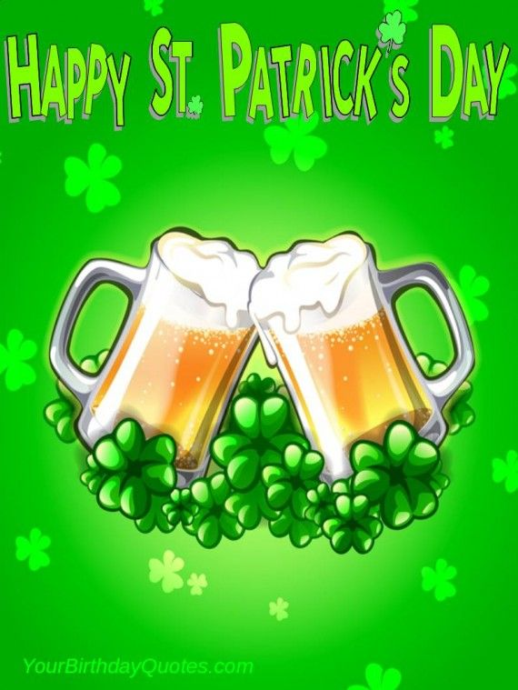 Happy St Patrick\'s Day everyone. Top of the morning to you.