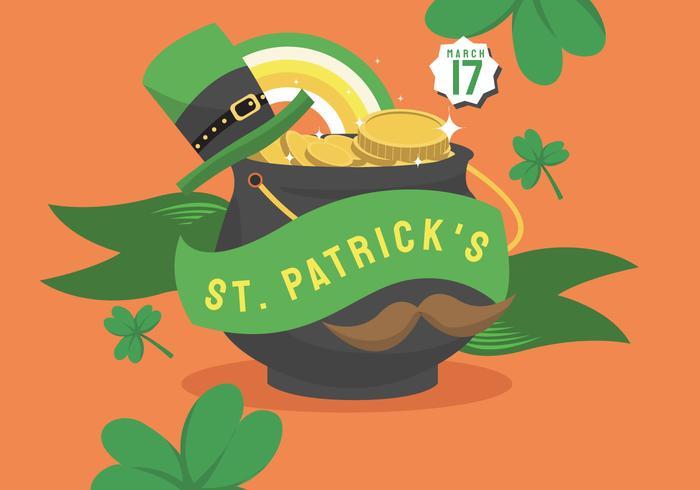 St Patricks Day Background Banner Design Vector.