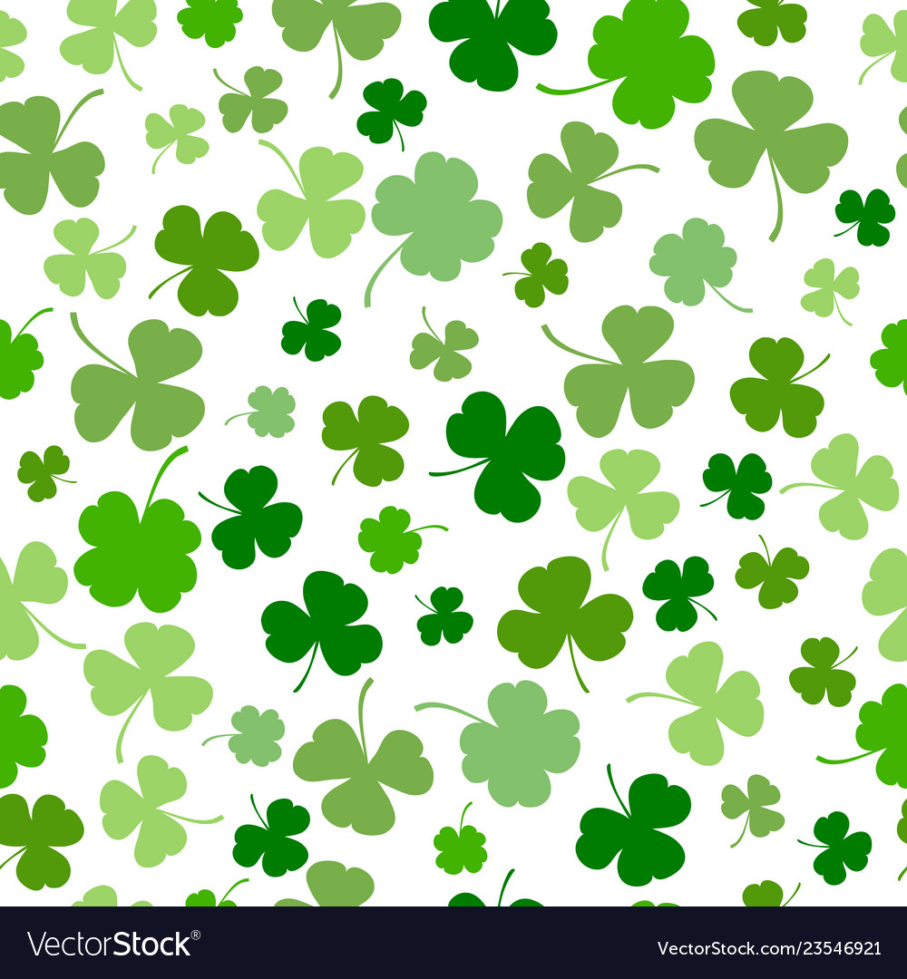St patrick s day seamless background.