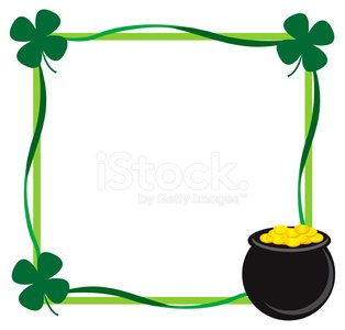 St. Patrick\'s day border Clipart Image.